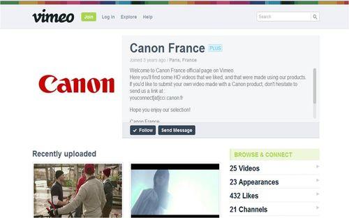 Canon Vimeo