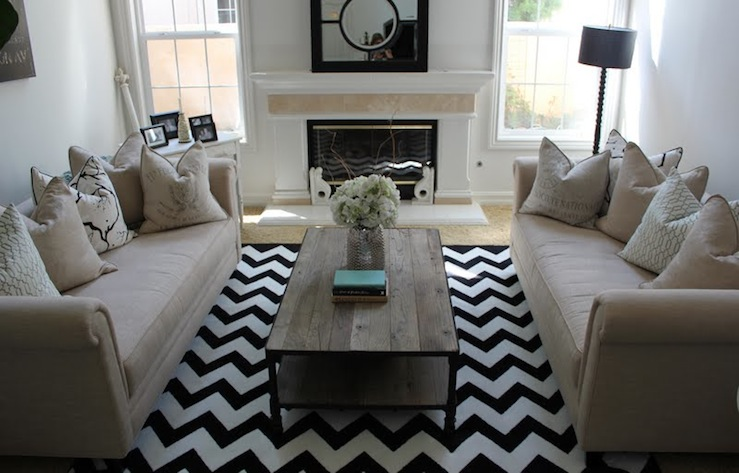 Chevrons living room