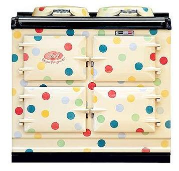 Polka-dot-aga-cooker-bridgewater